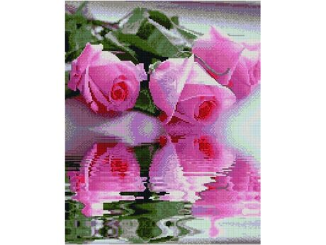 Reflection of roses diamond painting