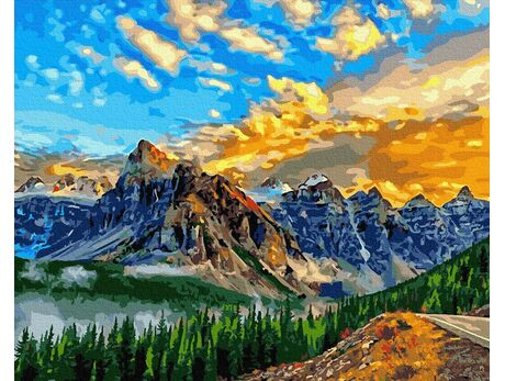 Sky in the mountains paint by numbers