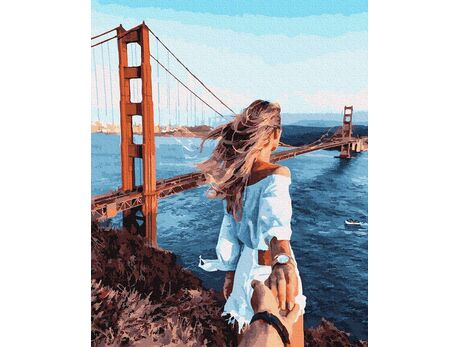 """""""Golden Gate"""" bridge paint by numbers"""