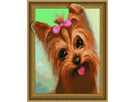 Cute yorkshire terrier diamond painting