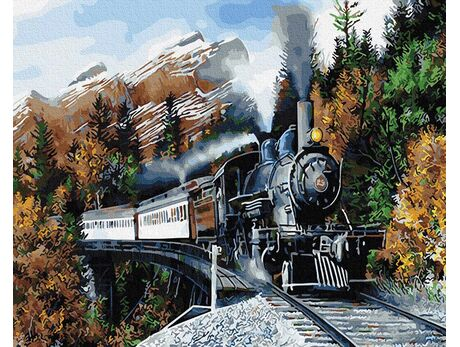 Rushing through the mountains paint by numbers