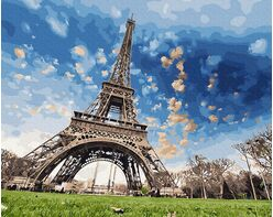 Romantic Paris sky