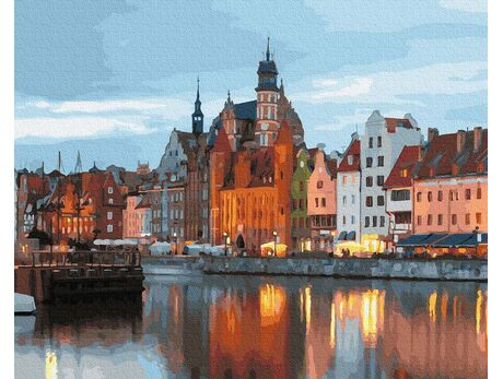 Gdansk Old Town paint by numbers