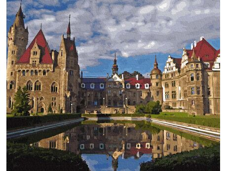 Moszna Castle paint by numbers