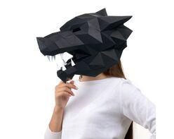 Wolf mask (black)