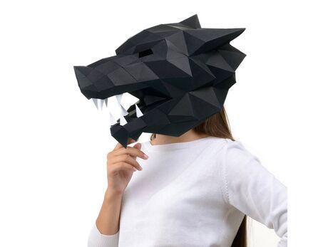 Wolf mask (black) papercraft 3d models