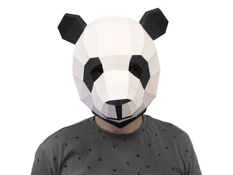 Panda mask papercraft 3d models