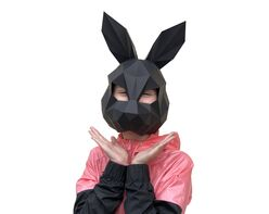 Rabbit mask (black)