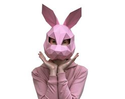 Rabbit mask (pink)