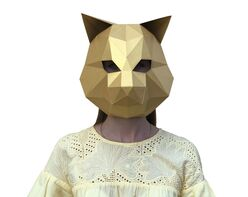 Cat mask (gold)