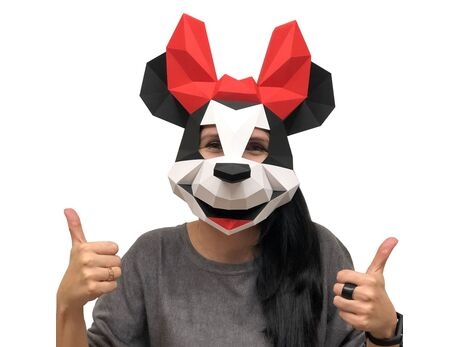 Minnie Mouse mask papercraft 3d models
