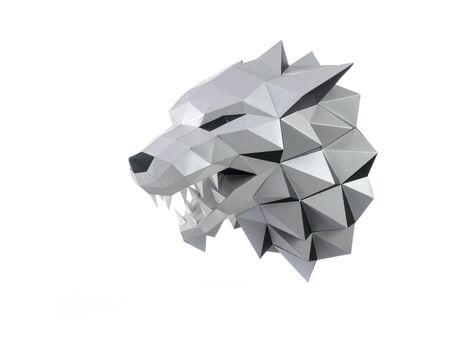 Fierce Wolf (grey) papercraft 3d models