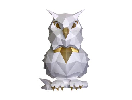 Puffy Owl (white) papercraft 3d models
