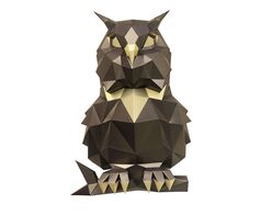 Puffy owl (bronze)