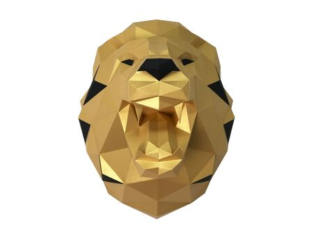 Lion (gold) papercraft 3d models