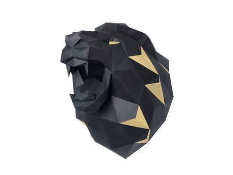 Lion (black) papercraft 3d models