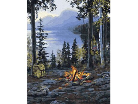 Picnic in the mountains paint by numbers
