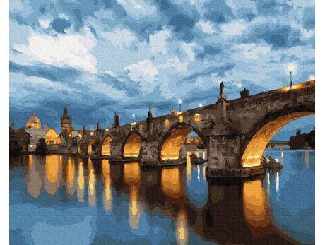 Charles Bridge. Prague paint by numbers