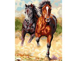 Speeding horses
