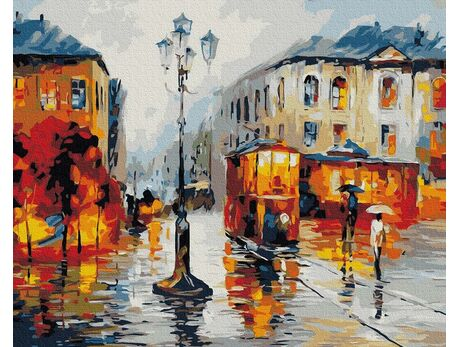 Streets after the rain paint by numbers