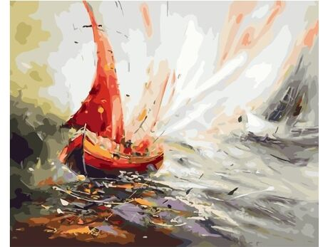 Red sail paint by numbers