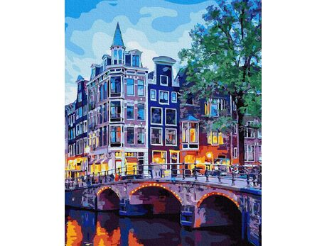 Amsterdam Night Lights paint by numbers