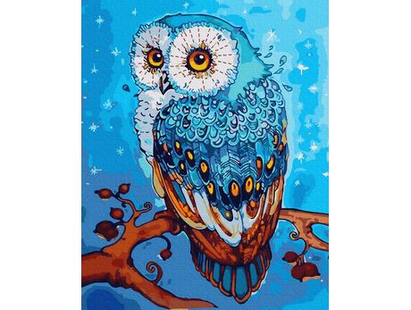 A fabulous owl paint by numbers