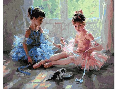 Charming ballerinas paint by numbers