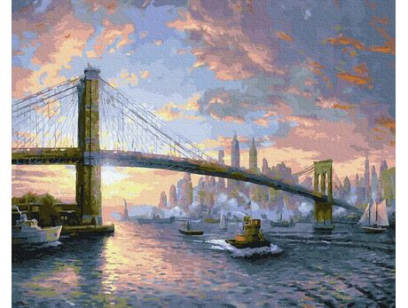 Brooklyn Bridge. New York paint by numbers