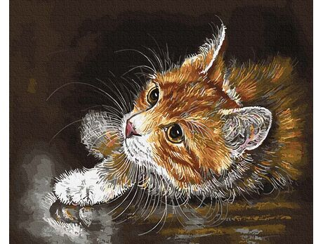 Ginger kitten paint by numbers