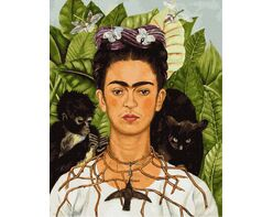 Frida Kahlo. Thorn necklace and hummingbird portrait