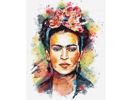 Frida Kahlo - decoupage paint by numbers