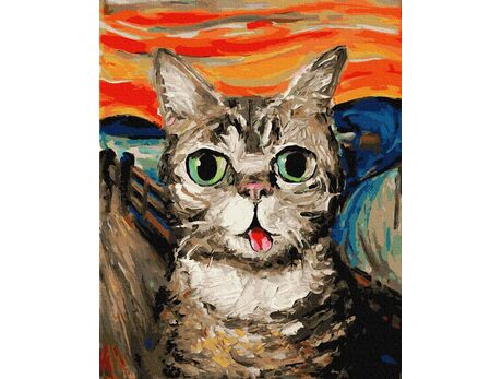 Scream - Cat version paint by numbers