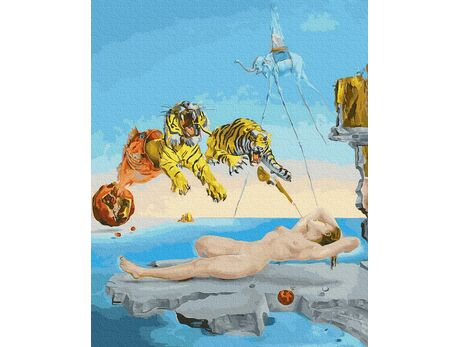 Salvador Dali. A dream caused by the  flight of a bee around a pomegranate.