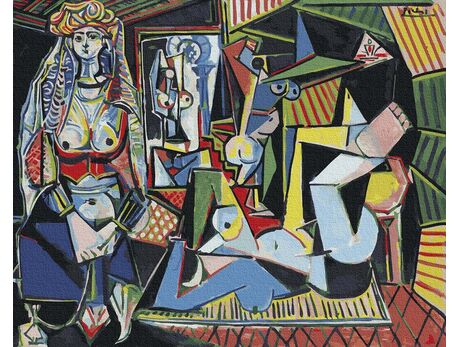 Pablo Picasso. Women of Algeria paint by numbers