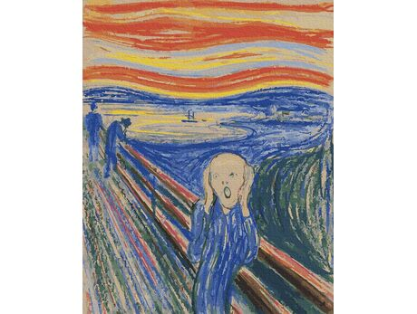 Edvard Munch. Scream paint by numbers