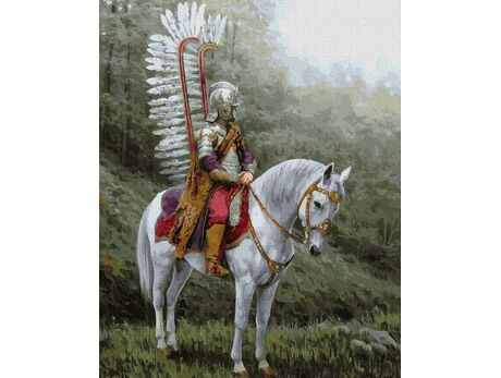 Winged hussar paint by numbers