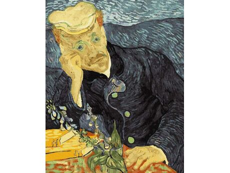 Van Gogh. Portrait of Dr. Gache. paint by numbers