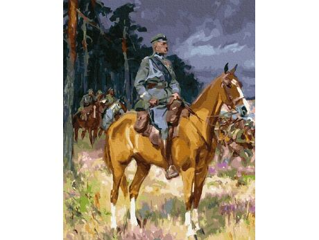 Before the battle. Józef Piłsudski paint by numbers