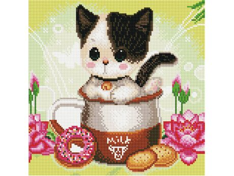 Kitty and cookies diamond painting