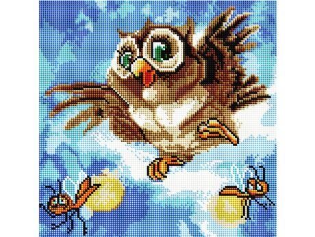 Happy owl diamond painting