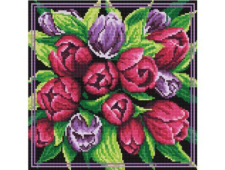 Tulips bouquet diamond painting