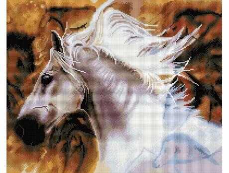 White horse diamond painting