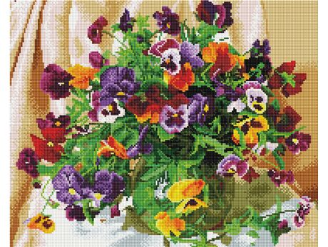 Bouquet of pansies diamond painting