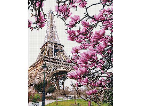 Eiffel Tower in flowers diamond painting