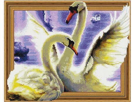 A pair of Swans diamond painting
