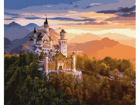 Neuschwanstein Castle paint by numbers