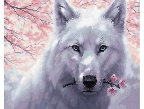 White Wolf paint by numbers