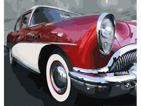 Old school classic car paint by numbers