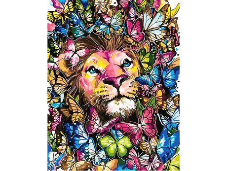 King of colorful butterflies paint by numbers